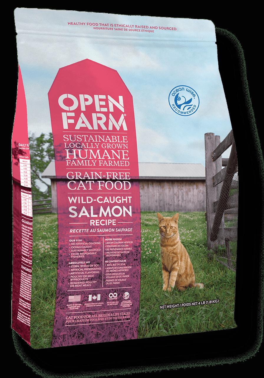 Open Farm Wild-Caught Salmon Recipe- 8 lb Cat
