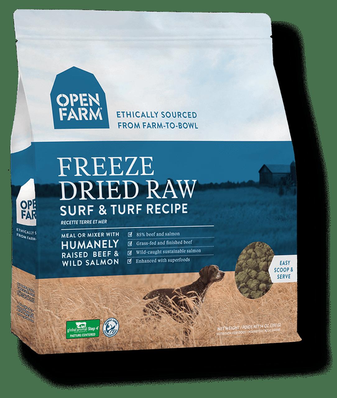 Open Farm Freeze Dried Surf Turf Recipe 13 5 Oz