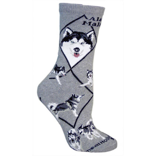Wheel House Alaskan Malamute Socks
