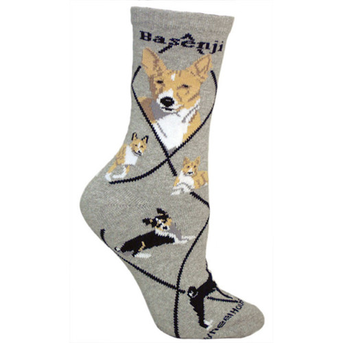 Wheel House Basenji Socks