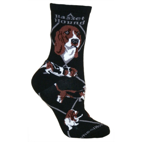 Wheel House Basset Hound Socks