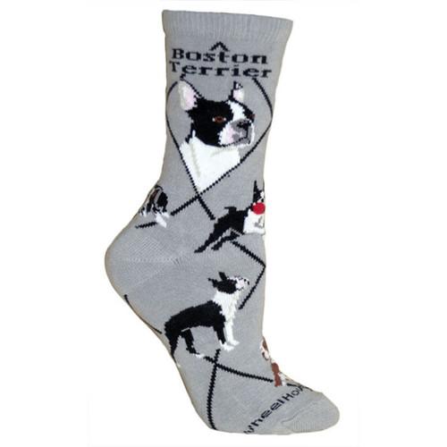 Wheel House Boston Terrier Socks
