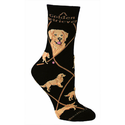 Wheel House Golden Retriever Socks