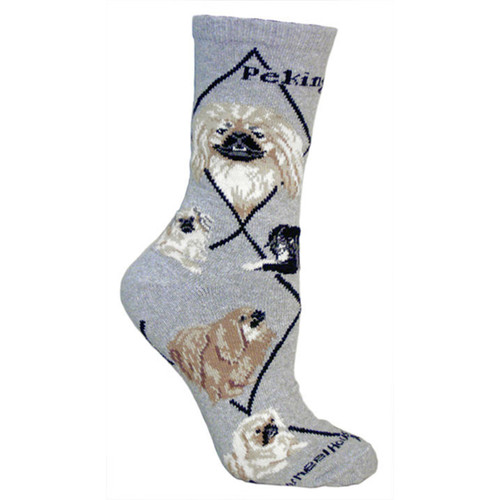 Wheel House Pekingese Socks