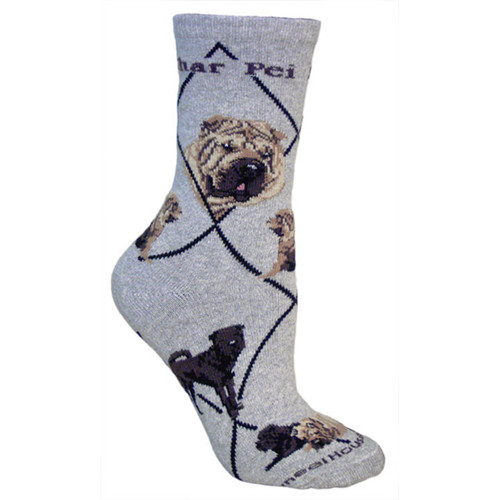 Wheel House Shar Pei Socks
