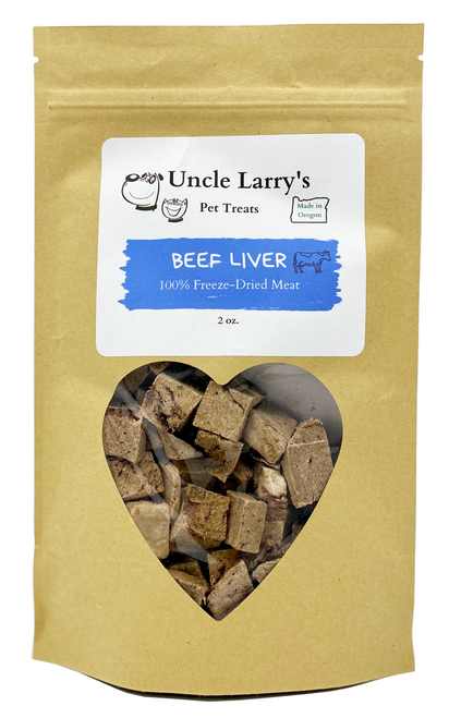 Uncle Larry's Beef Liver Treats front