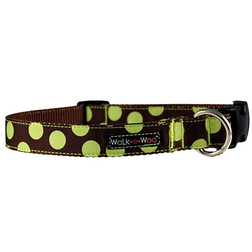Walk-E-Woo Green Dots on Brown