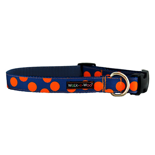 Walk-E-Woo Orange Dots on Blue