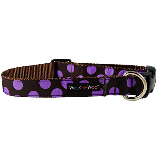 Walk-E-Woo Purple Dots on Brown