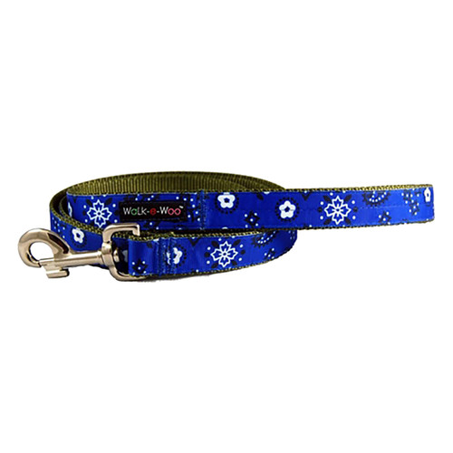 Walk-E-Woo Blue Bandana Lead