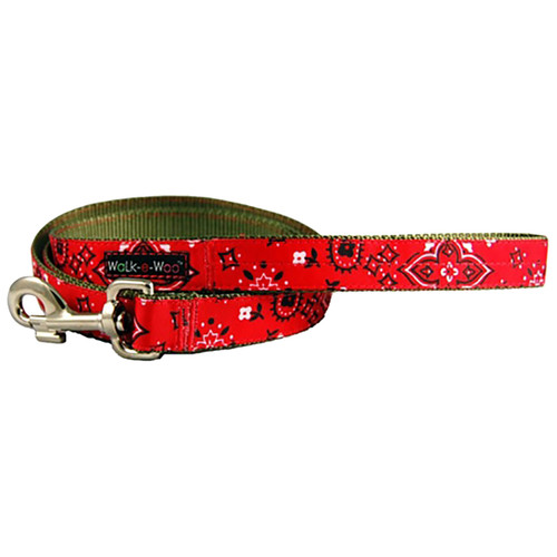 Walk-E-Woo Red Bandana Lead