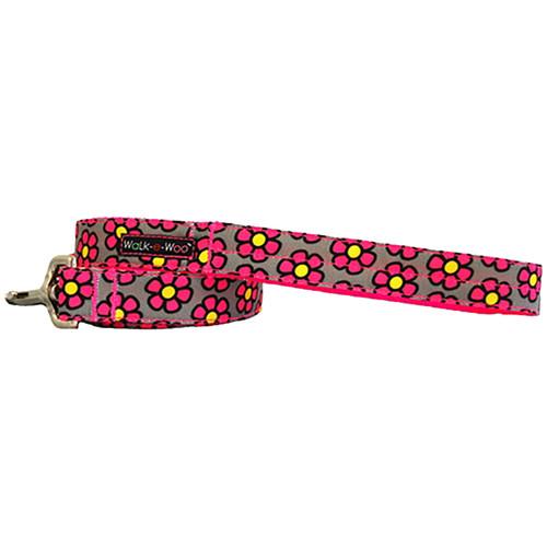 Walk-E-Woo Pink Daisies on Grey Lead