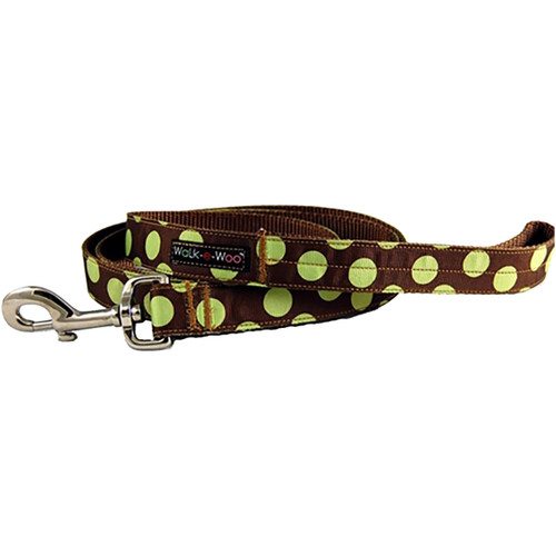 Walk-E-Woo Green Dots on Brown Lead