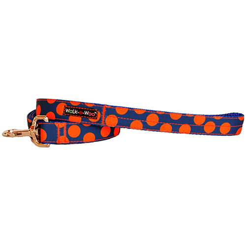 Walk-E-Woo Orange Dots on Blue Lead