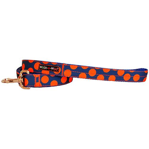 Walk-E-Woo Orange Dots on Blue Lead