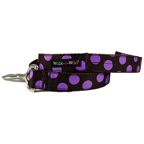 Walk-E-Woo Purple Dots on Brown Lead