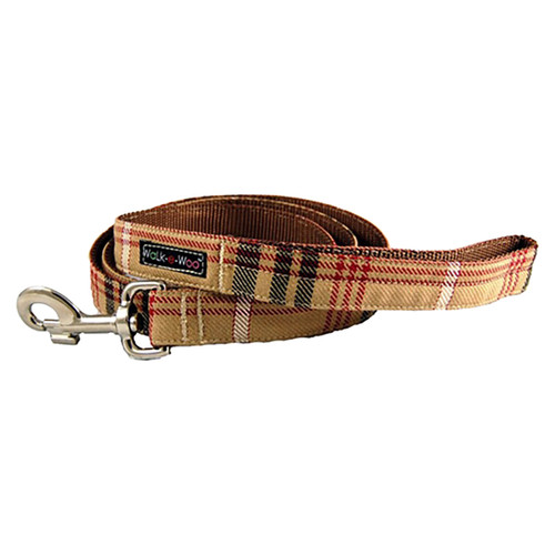 Walk-E-Woo Brown Plaid Lead