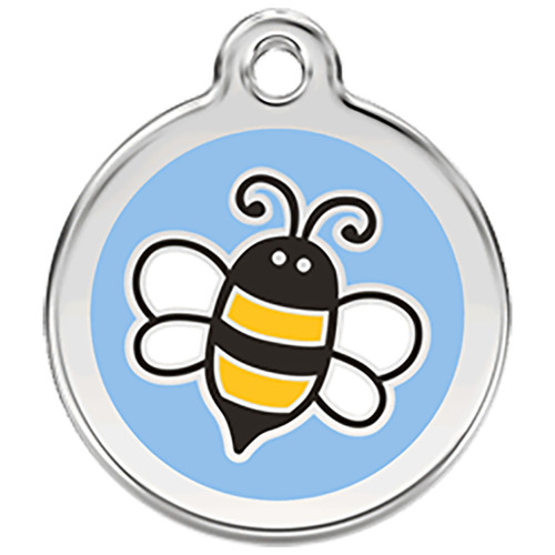 Red Dingo Enamel Tag Bumble Bee Blue