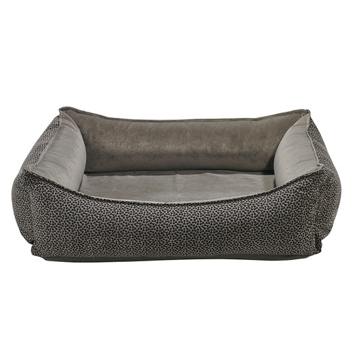 Bowsers Oslo Ortho Bed - Pewter Bones