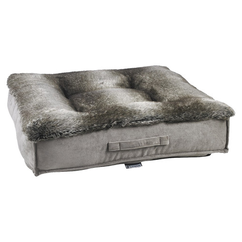Bowsers Piazza Bed - Chinchilla Faux Fur