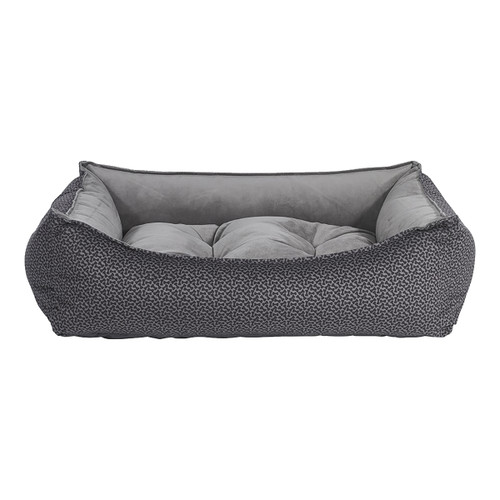 Bowsers Scoop Bed - Pewter Bones