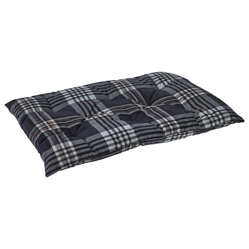 Bowsers Tufted Cushion - Greystone Tartan