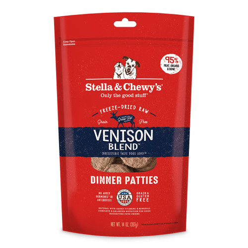 Stella & Chewy's Freeze-Dried Venison Patties for Dogs