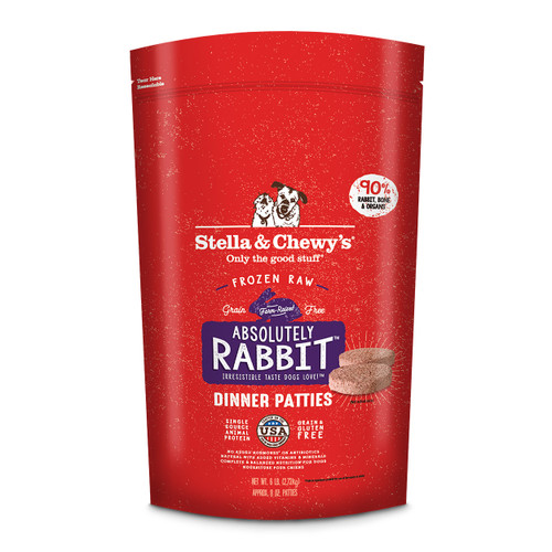 Stella & Chewy's Frozen Rabbit Patties for Dogs
