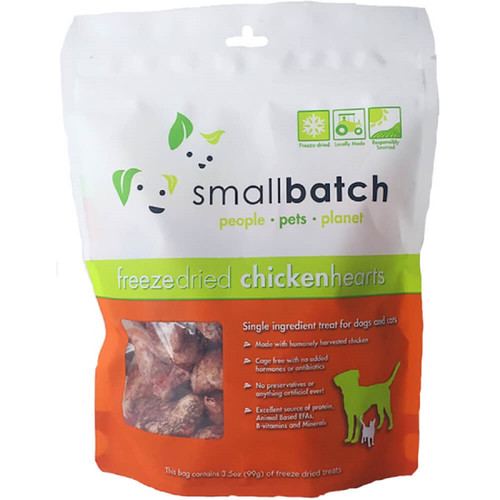Small Batch Freeze Dried Chicken Heart Treats