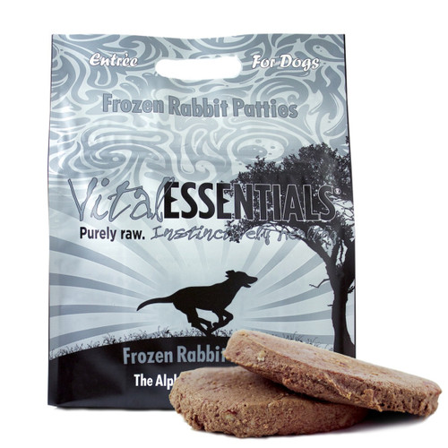 Vital Essentials Dog Frozen Rabbit Patties