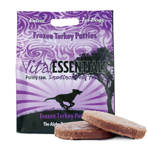 Vital Essentials Dog Frozen Turkey Patties