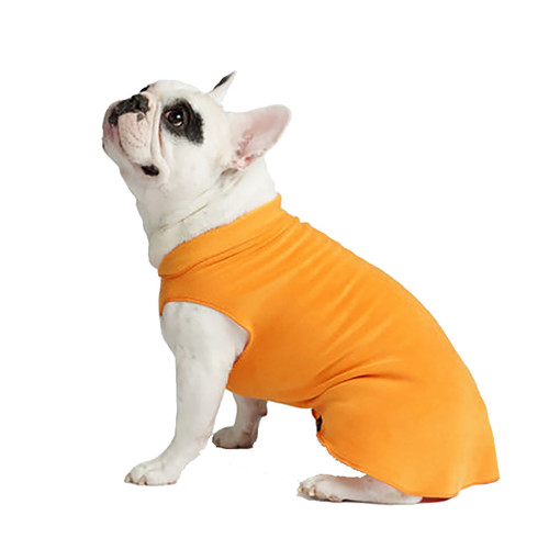 Gold Paw Series Stretch Fleece - Pumpkin Orange