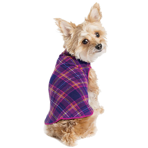 Gold Paw Series Stretch Fleece - Mulberry Plaid