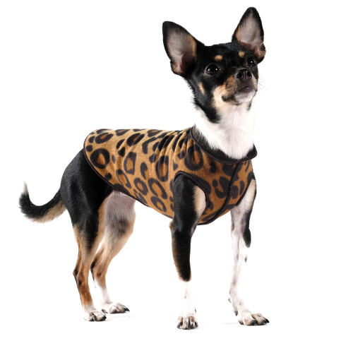 Gold Paw Series Duluth Double Fleece - Leopard and Black