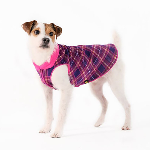 Gold Paw Series Duluth Double Fleece - Mulberry Plaid