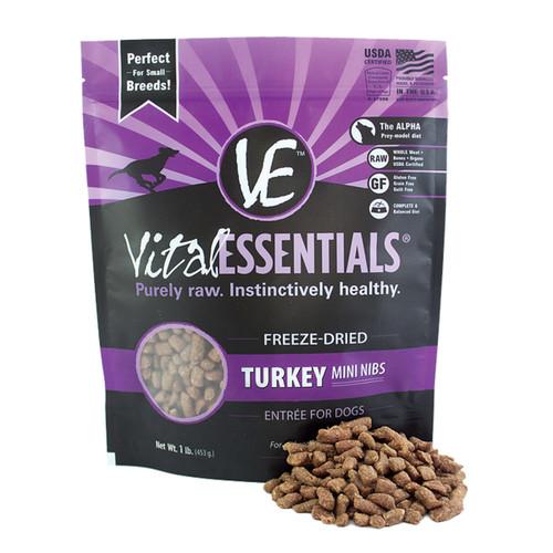 Vital Essentials Freeze-Dried Mini Nibs Turkey