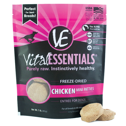 Vital Essentials Freeze-Dried Mini Patties Chicken