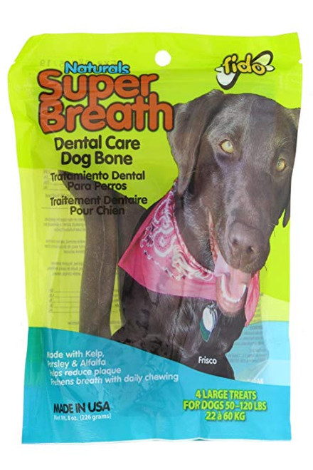 Fido Naturals Super Breath Bone- Large Dog 4 pk