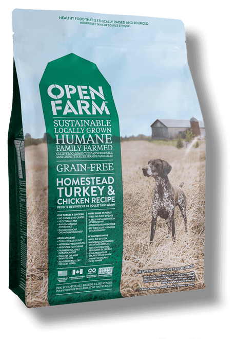 Front of bag- homestead open farm
