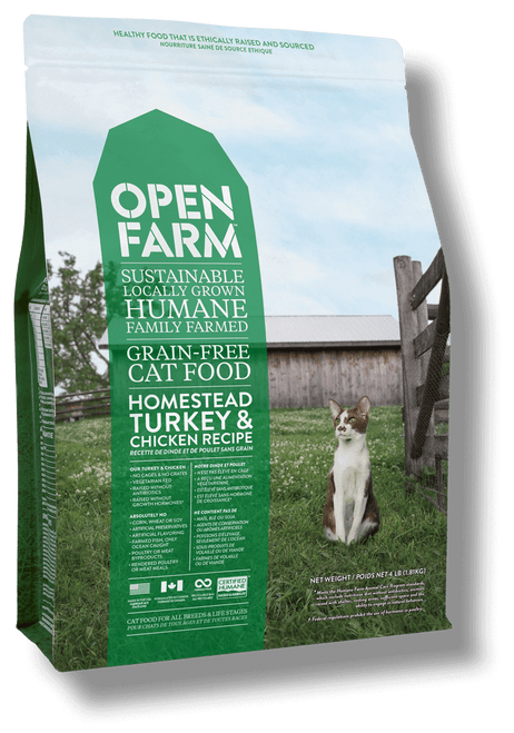 Open Farm homestead chicken and turkey- cat