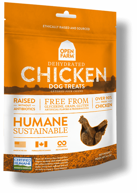 Open Farm Dehydrated Chicken Dog Treats - 4.5oz