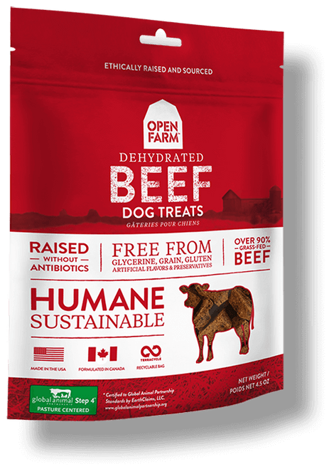 Open Farm Dehydrated Beef Dog Treats - 4.5oz