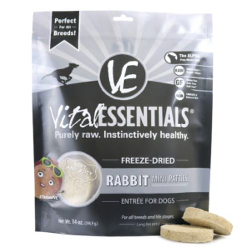 Vital Rabbit Dog Food Patties Freeze Dried