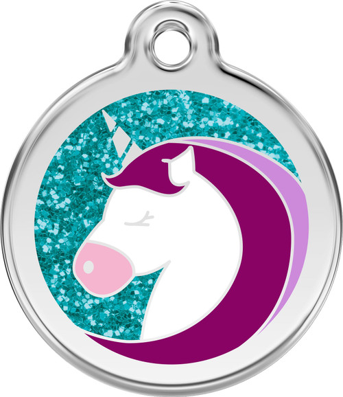 Red Dingo Enamel Unicorn Tag