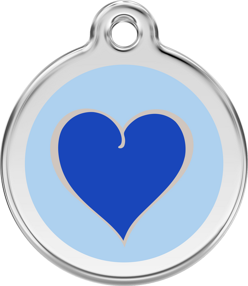 Red Dingo Enamel Tag Silverheart Blue