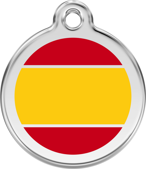 Spanish Flag Red Dingo Tag