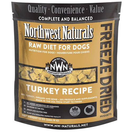 NWN Freeze Dried Turkey Dog Food