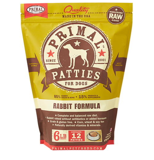 Rabbit 6lb Primal Dog Food