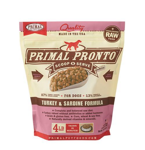 Pronto Turkey & Sardine Primal 4 lb
