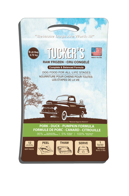Pork, Duck & Pumpkin Tuckers Raw Food 6 lb Patties